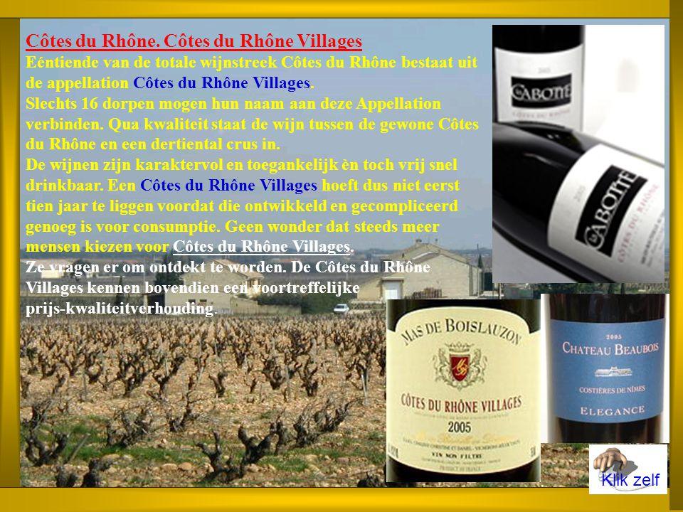 Geschiedenis van de AOC Een edict van de Franse koning bepaalt in 1737 dat alle vaten wijn die bestemd zijn voor verkoop en transport moeten worden gebrandmerkt met de letters C.D.R. Pas in het midden van de XIXe eeuw wijzigt Côte du Rhône in Côtes du Rhône, waarbij de naam ook van toepassing wordt op het aangeplante gebied op de linker Rhôneoever.