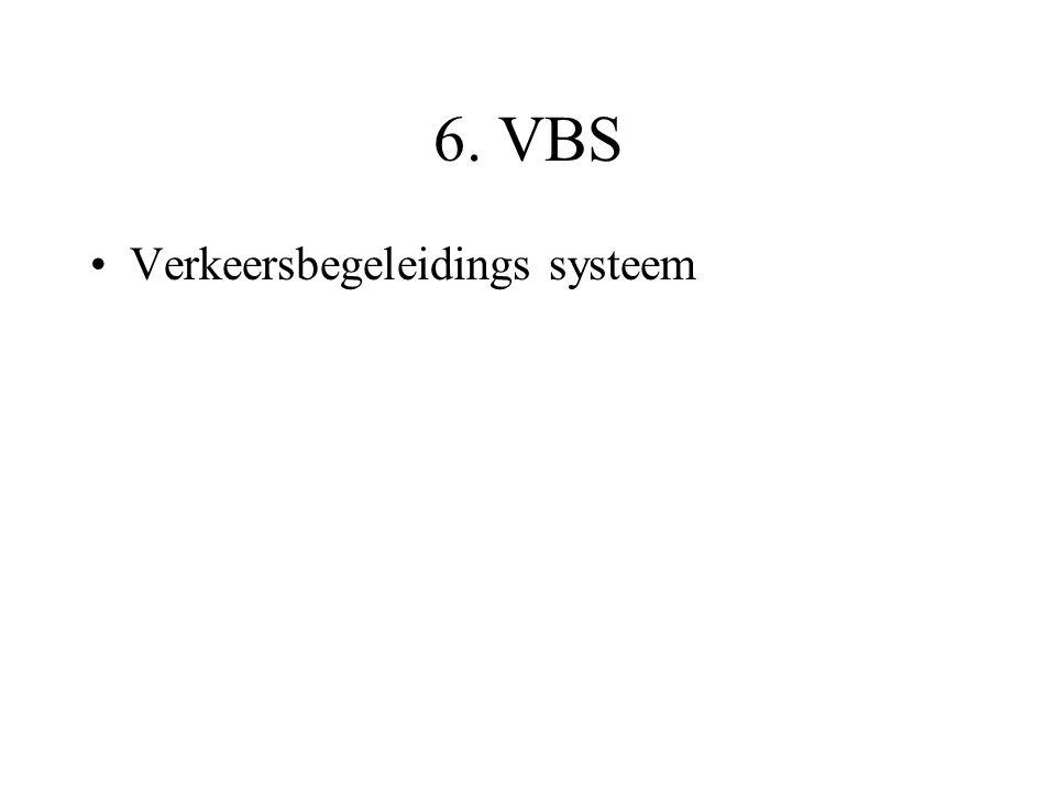 6. VBS •Verkeersbegeleidings systeem