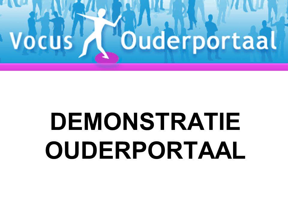 DEMONSTRATIE OUDERPORTAAL