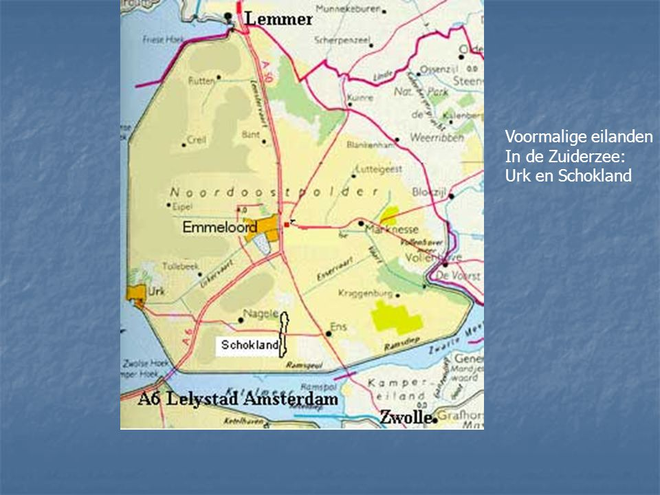 Voormalige eilanden In de Zuiderzee: Urk en Schokland