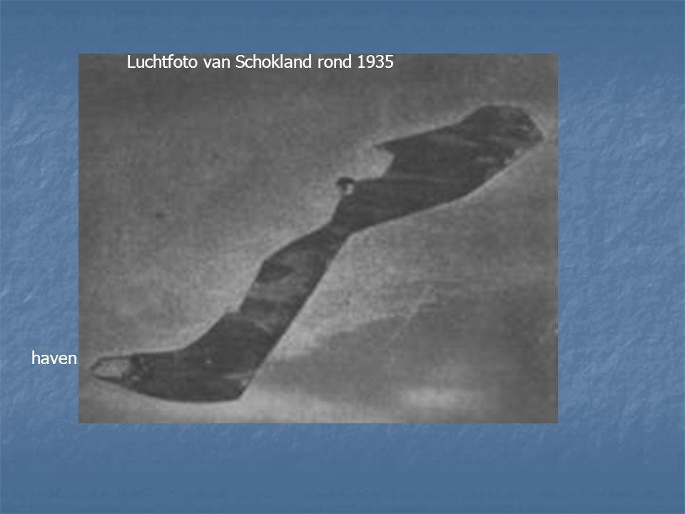 haven Luchtfoto van Schokland rond 1935