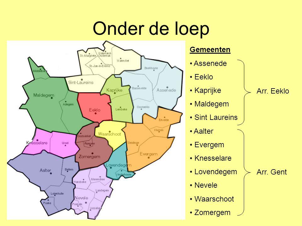 Onder de loep Gemeenten • Assenede • Eeklo • Kaprijke • Maldegem • Sint Laureins • Aalter • Evergem • Knesselare • Lovendegem • Nevele • Waarschoot •