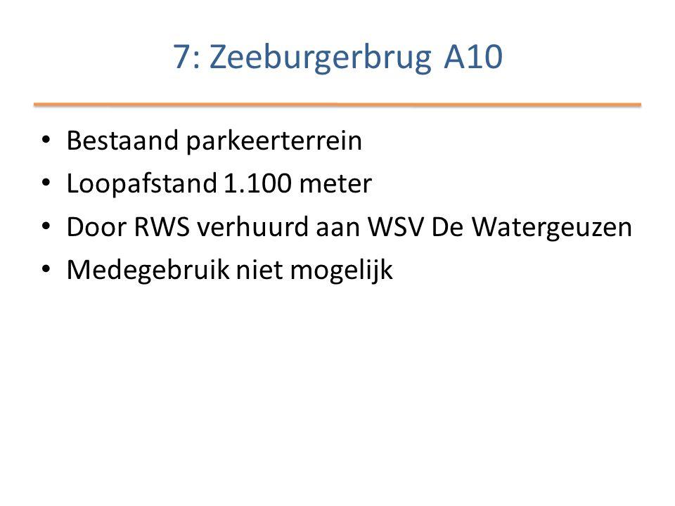 • Bestaand parkeerterrein • Loopafstand 1.100 meter • Door RWS verhuurd aan WSV De Watergeuzen • Medegebruik niet mogelijk