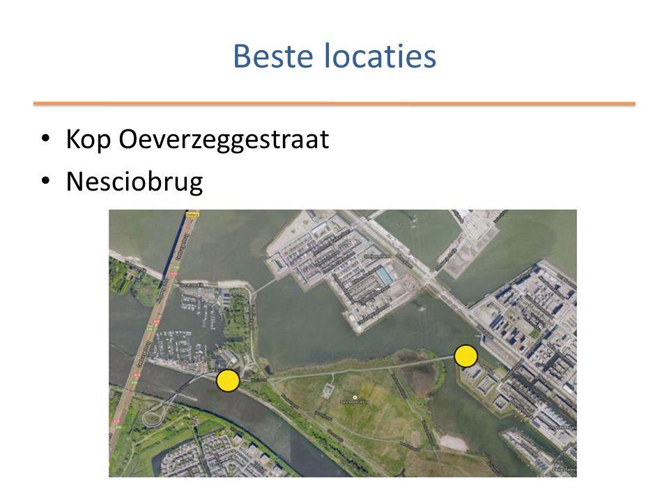 Beste locaties • Kop Oeverzeggestraat • Nesciobrug