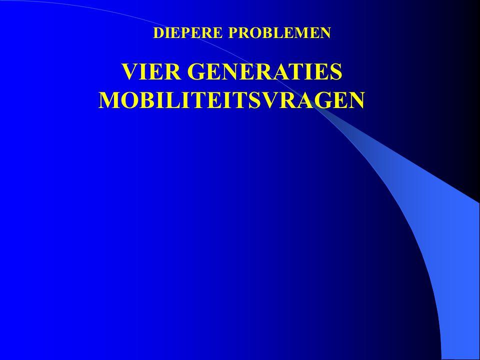 DIEPERE PROBLEMEN VIER GENERATIES MOBILITEITSVRAGEN