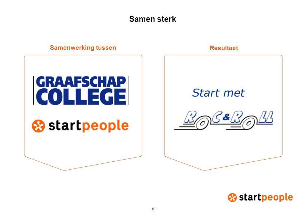 - 8 - Samen sterk Start met Resultaat Samenwerking tussen