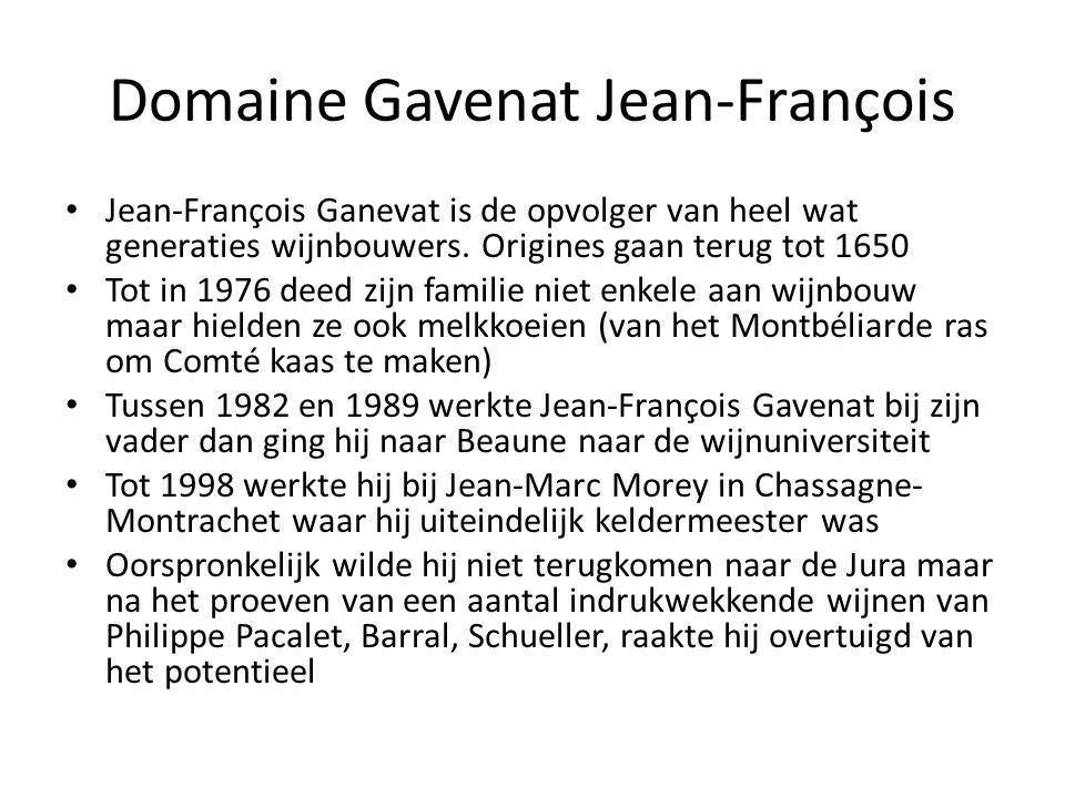 Domaine Gavenat Jean-François • Jean-François Ganevat is de opvolger van heel wat generaties wijnbouwers.