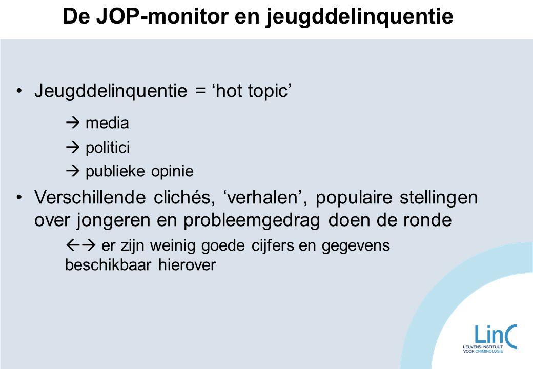 •Jeugddelinquentie = 'hot topic'  media  politici  publieke opinie •Verschillende clichés, 'verhalen', populaire stellingen over jongeren en proble
