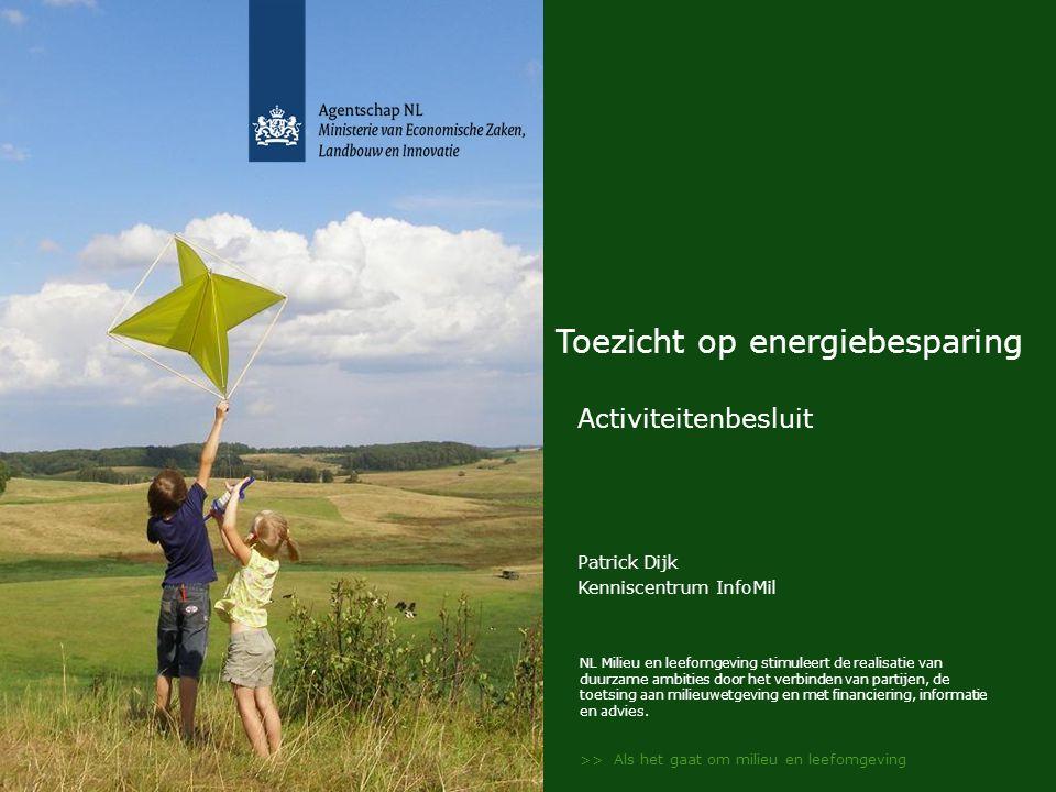 NL Milieu en leefomgeving stimuleert de realisatie van duurzame ambities door het verbinden van partijen, de toetsing aan milieuwetgeving en met finan