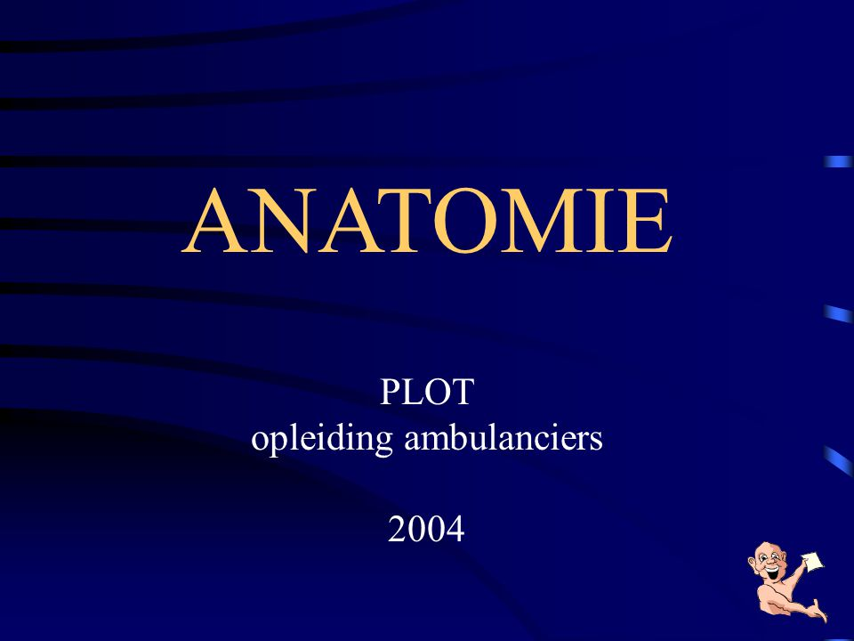 ANATOMIE PLOT opleiding ambulanciers 2004