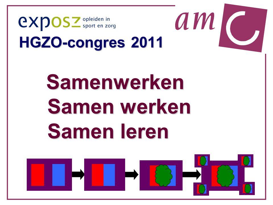 HGZO-congres 2011 Carol Timmer Opleidingskundige/Coördinator Onderwijscentrum Zorgopleidingen AMC (020 – 56) 64331 c.g.timmer@amc.uva.nl