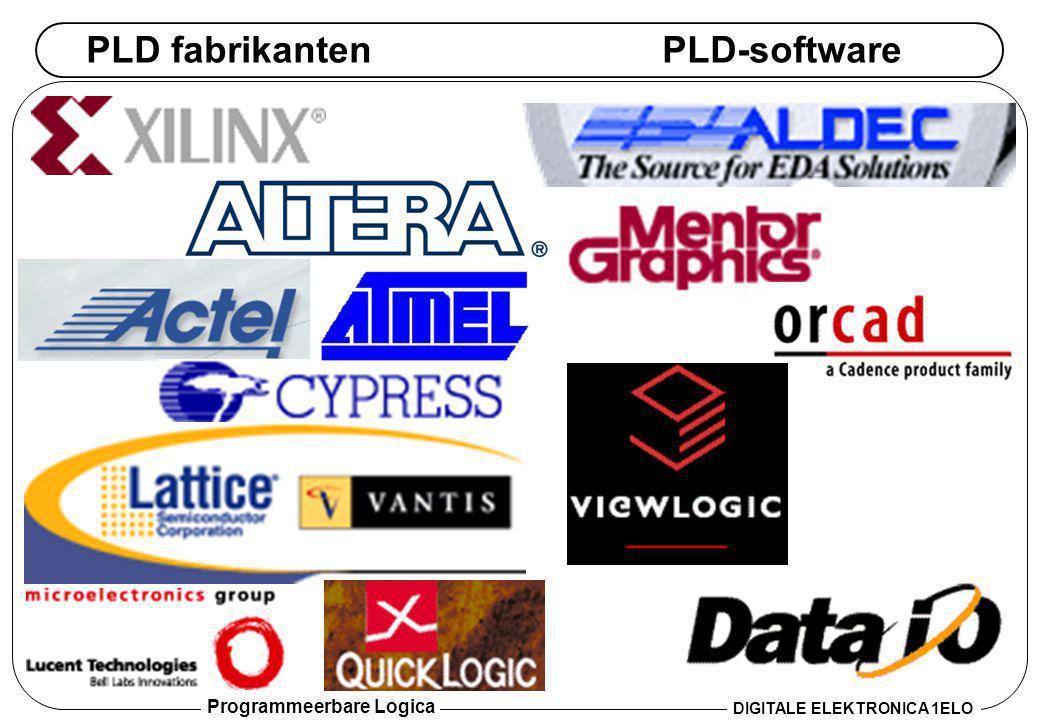Programmeerbare Logica DIGITALE ELEKTRONICA 1ELO PLD fabrikantenPLD-software