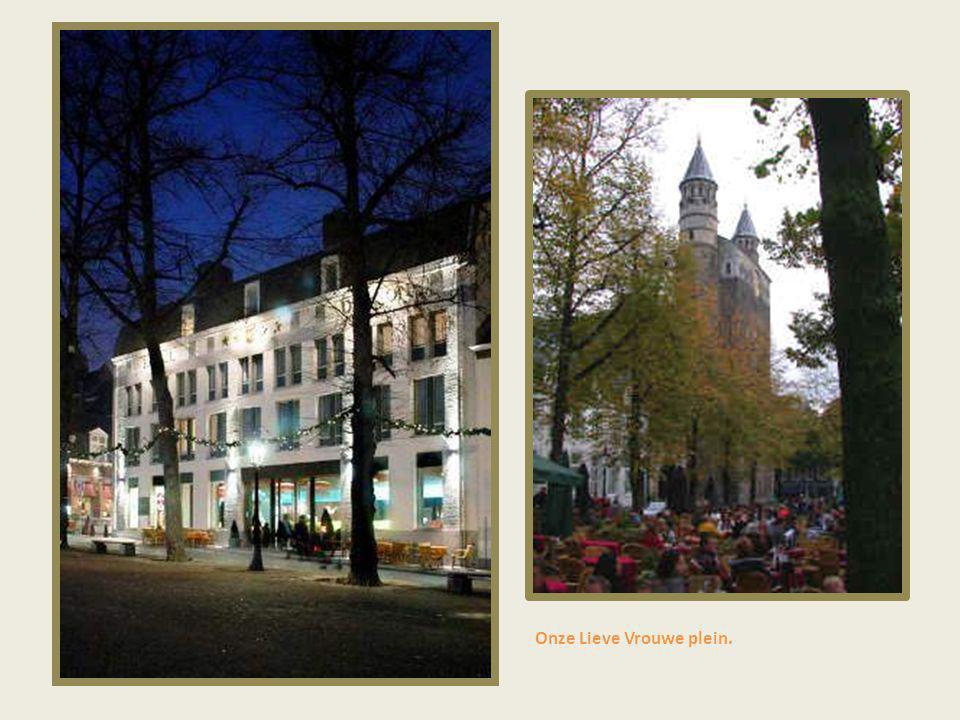 Boschstraat 's nachts.
