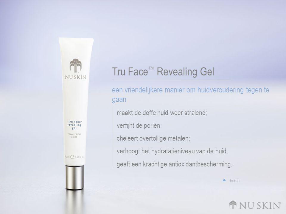 Tru Face ™ Revealing Gel een vriendelijkere manier om huidveroudering tegen te gaan maakt de doffe huid weer stralend; verfijnt de poriën: cheleert overtollige metalen; verhoogt het hydratatieniveau van de huid; geeft een krachtige antioxidantbescherming.