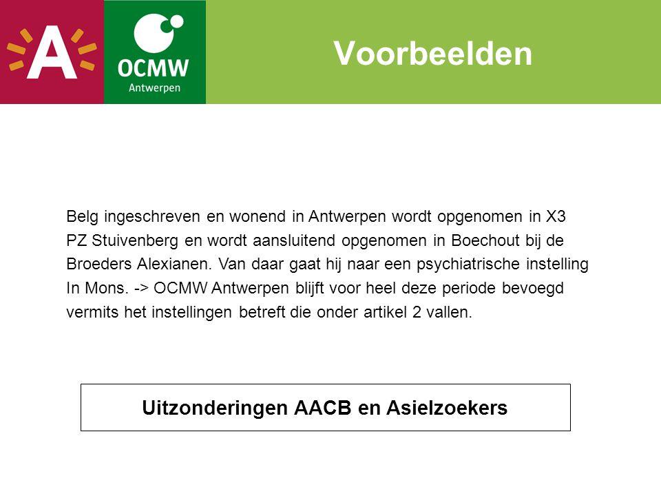 Belg ingeschreven en wonend in Antwerpen wordt opgenomen in X3 PZ Stuivenberg en wordt aansluitend opgenomen in Boechout bij de Broeders Alexianen. Va