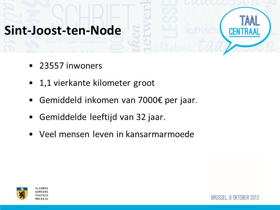 Sint-Joost-ten-Node •23557 inwoners •1,1 vierkante kilometer groot •Gemiddeld inkomen van 7000€ per jaar.