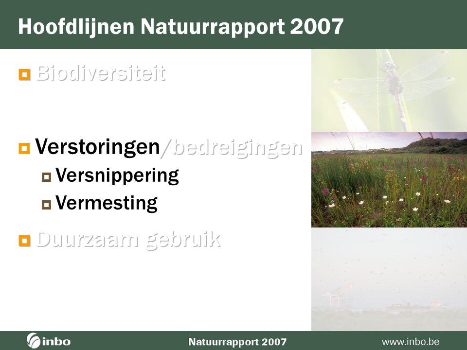 Balans  Toename  Generalisten  Soorten die positief reageren op veranderingen in de leefomgeving (vermesting, veranderend klimaat)  Soorten die he