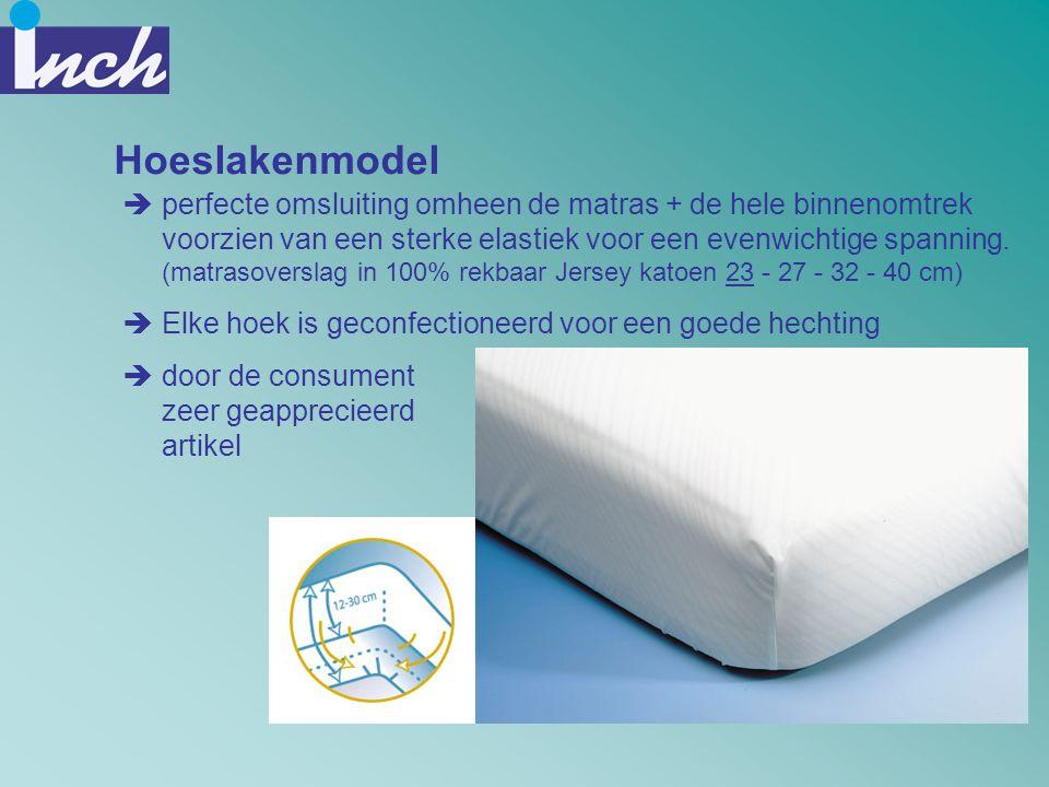 Hoeslakenmodel  perfecte omsluiting omheen de matras + de hele binnenomtrek voorzien van een sterke elastiek voor een evenwichtige spanning. (matraso