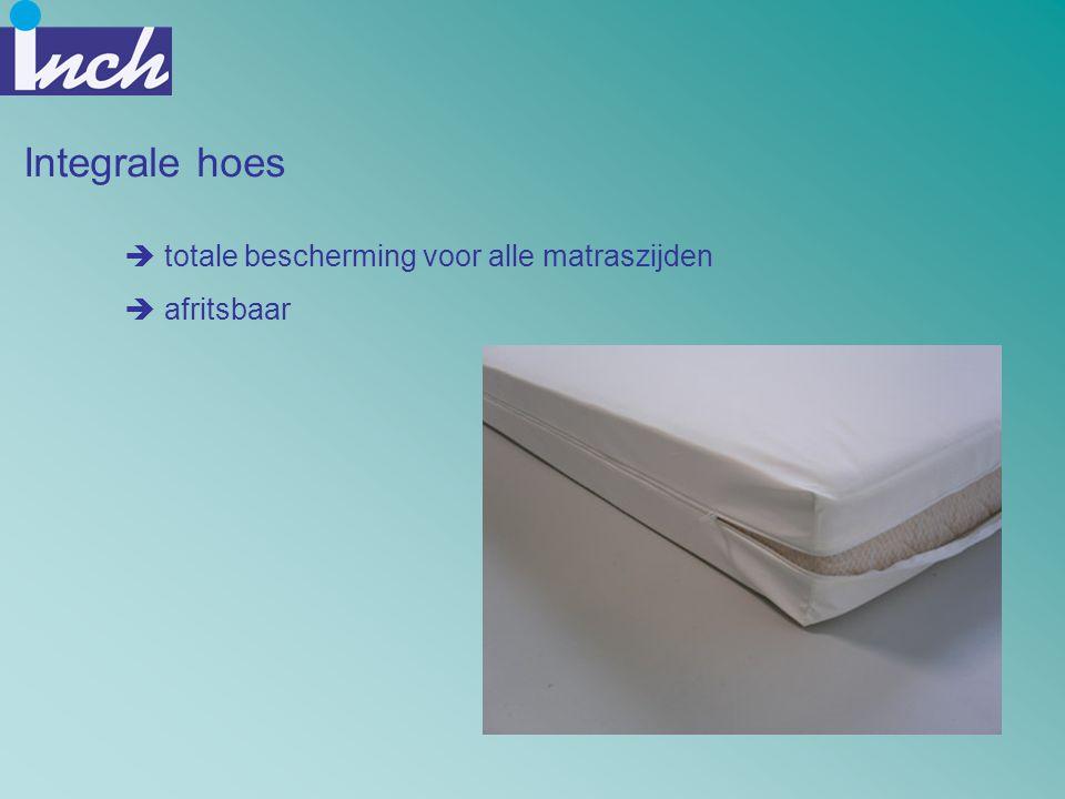 Integrale hoes  totale bescherming voor alle matraszijden  afritsbaar