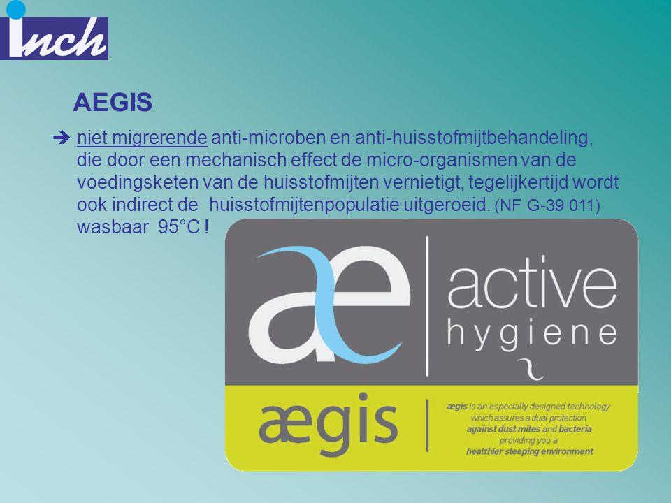 AEGIS  niet migrerende anti-microben en anti-huisstofmijtbehandeling, die door een mechanisch effect de micro-organismen van de voedingsketen van de