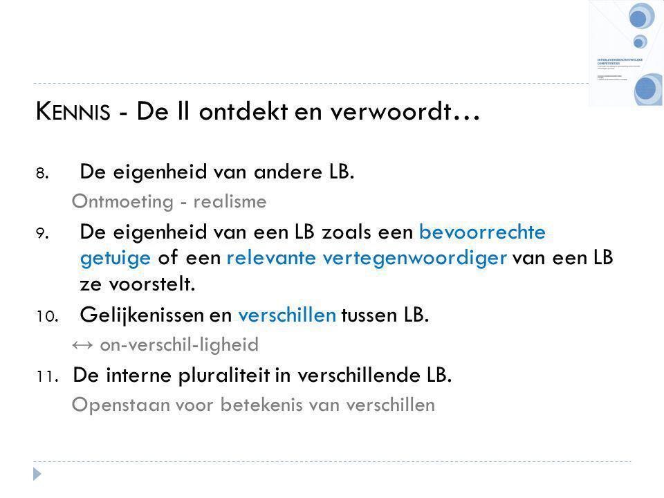K ENNIS - De ll ontdekt en verwoordt… 8.De eigenheid van andere LB.
