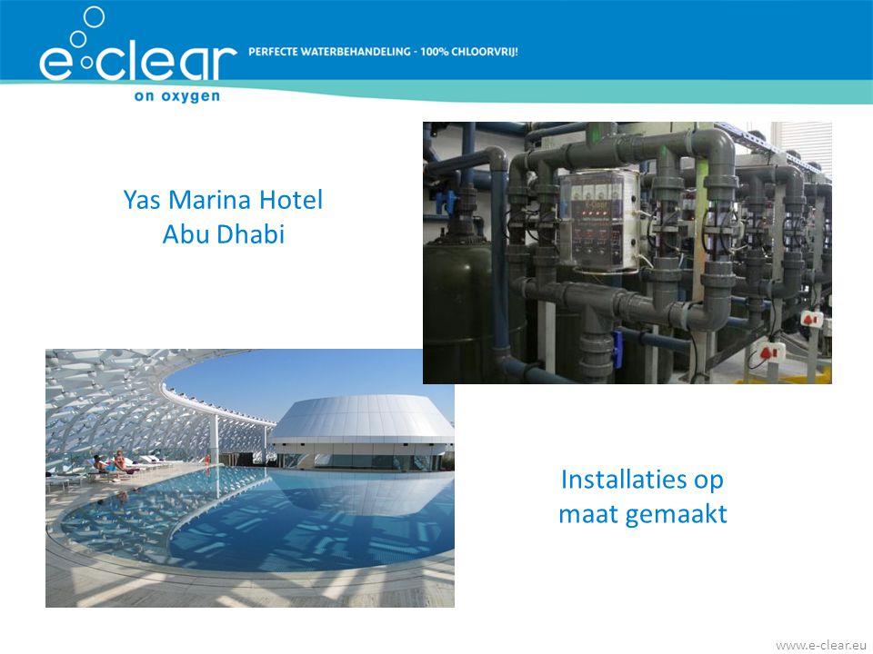 Yas Marina Hotel Abu Dhabi Installaties op maat gemaakt www.e-clear.eu