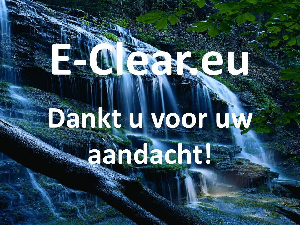 E-Clear.eu Dankt u voor uw aandacht!