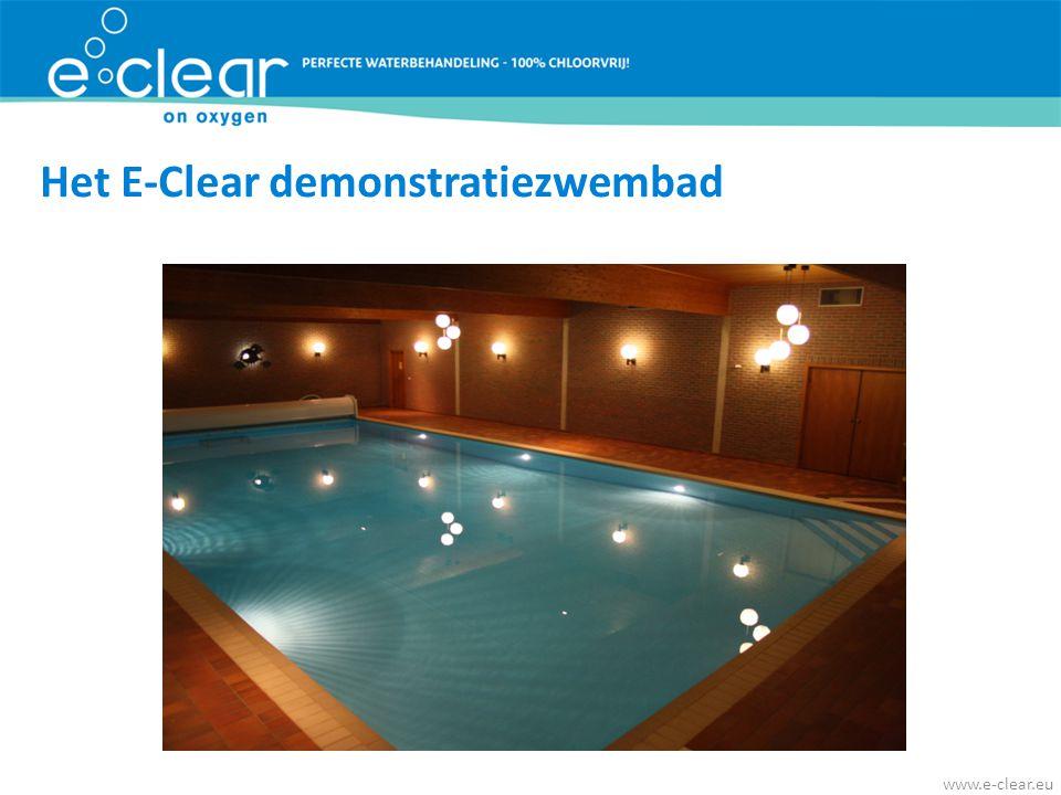 Het E-Clear demonstratiezwembad