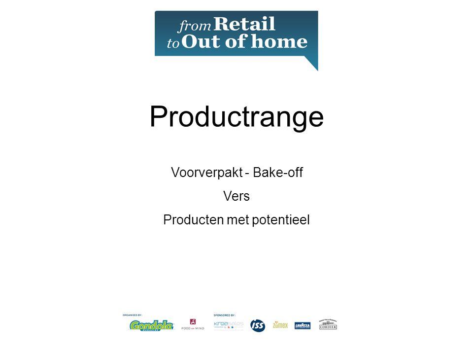 Productrange Voorverpakt - Bake-off Vers Producten met potentieel