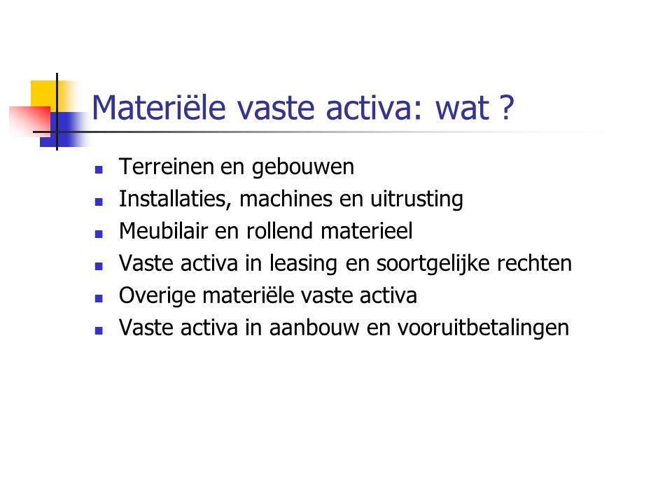 Materiële vaste activa: wat .