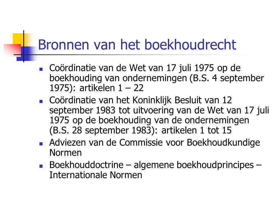 Bronnen van het boekhoudrecht  Coördinatie van de Wet van 17 juli 1975 op de boekhouding van ondernemingen (B.S.