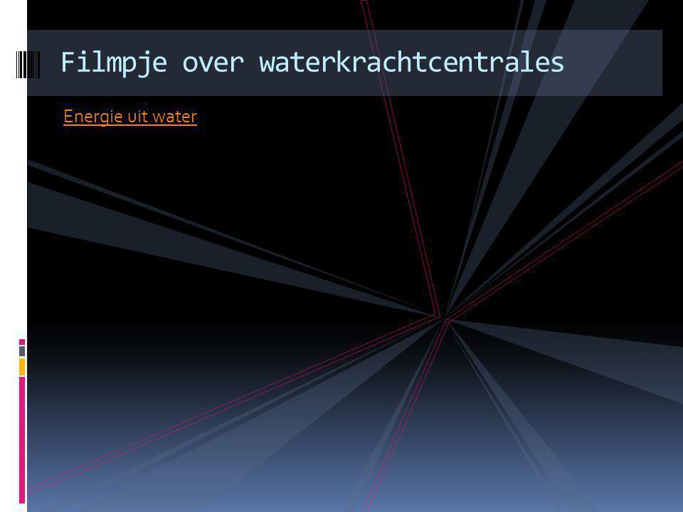 Energie uit water Filmpje over waterkrachtcentrales