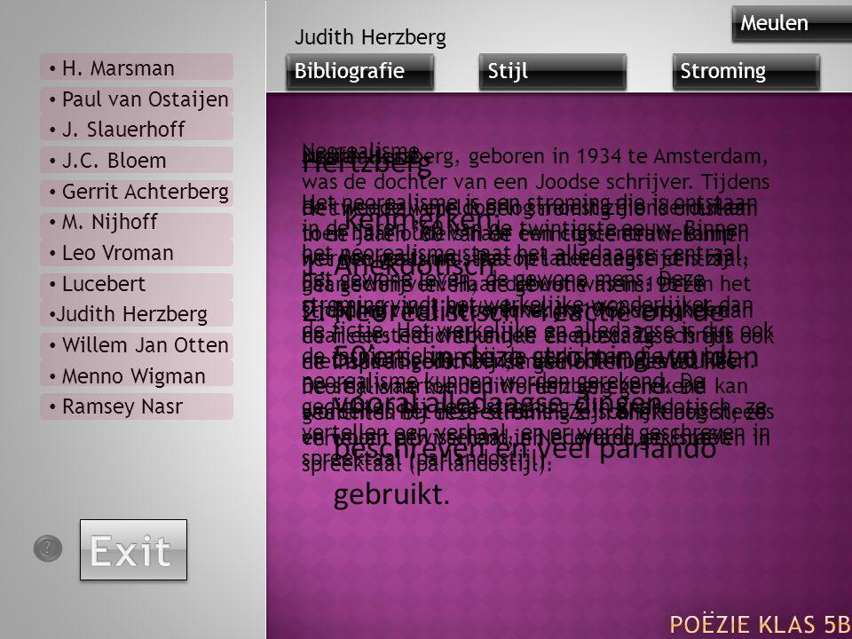 Judith Herzberg, geboren in 1934 te Amsterdam, was de dochter van een Joodse schrijver. Tijdens de tweede wereldoorlog moest zij onderduiken toen haar