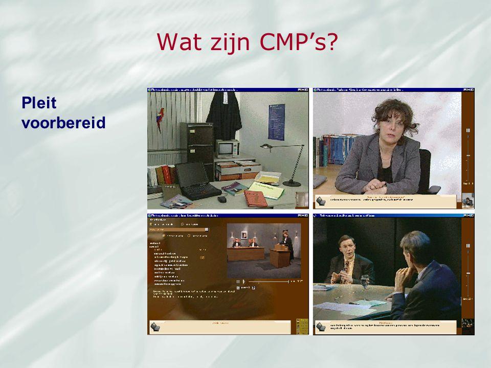 Wat zijn CMP's? Pleit voorbereid