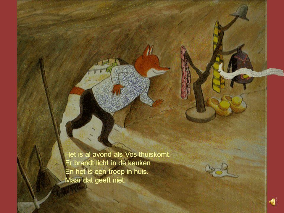 Vos zucht.Koek groeit niet in de grond zoals worteltjes.