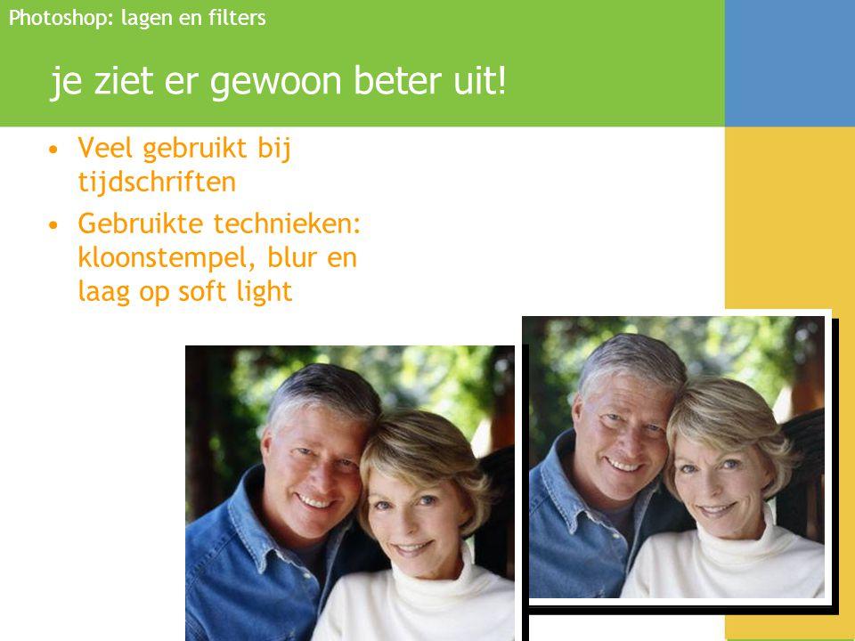 Bijscholing OPR Bart Vandenbroele mislukte foto's retoucheren •Onderbelichte foto's kun je verbeteren door de niveaus aan te passen in de foto en de kleuren bij te werken met kleurbalans Photoshop: lagen en filters