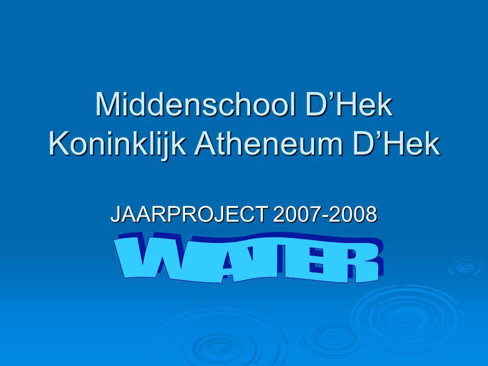Middenschool D'Hek Koninklijk Atheneum D'Hek JAARPROJECT 2007-2008