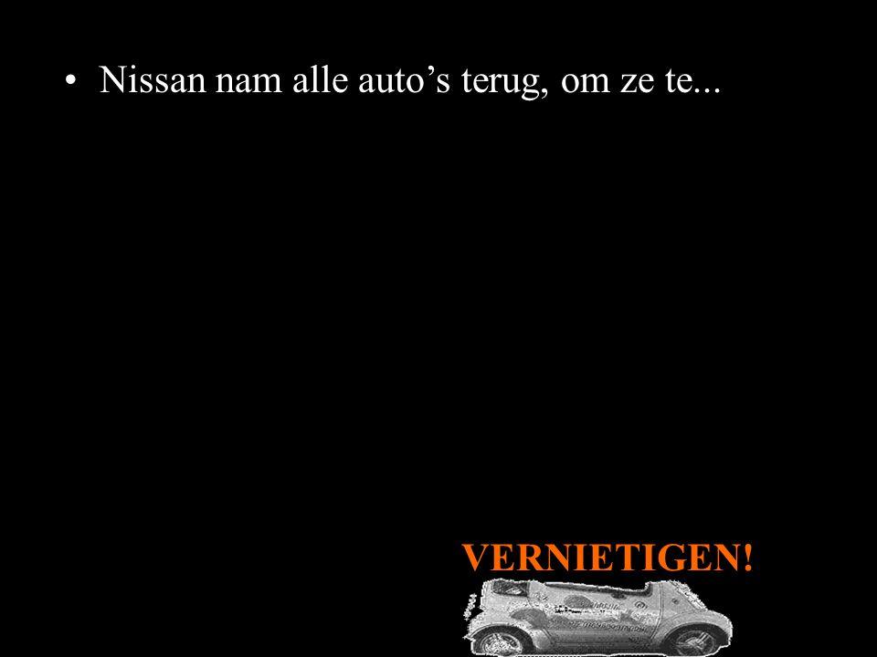 •De gemeente probeerde de auto's te kopen... maar Nissan weigerde. •In augustus 2006 liep de huurovereenkomst tussen Pasadena en Nissan af.