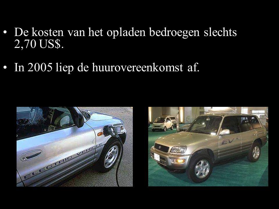 •Deze elektrische auto, een technisch hoogontwikkeld product werd door de gebruikers vanaf 1997 zeer gewaardeerd. 2003 RAV4-EV •In 2003 besloot Toyota