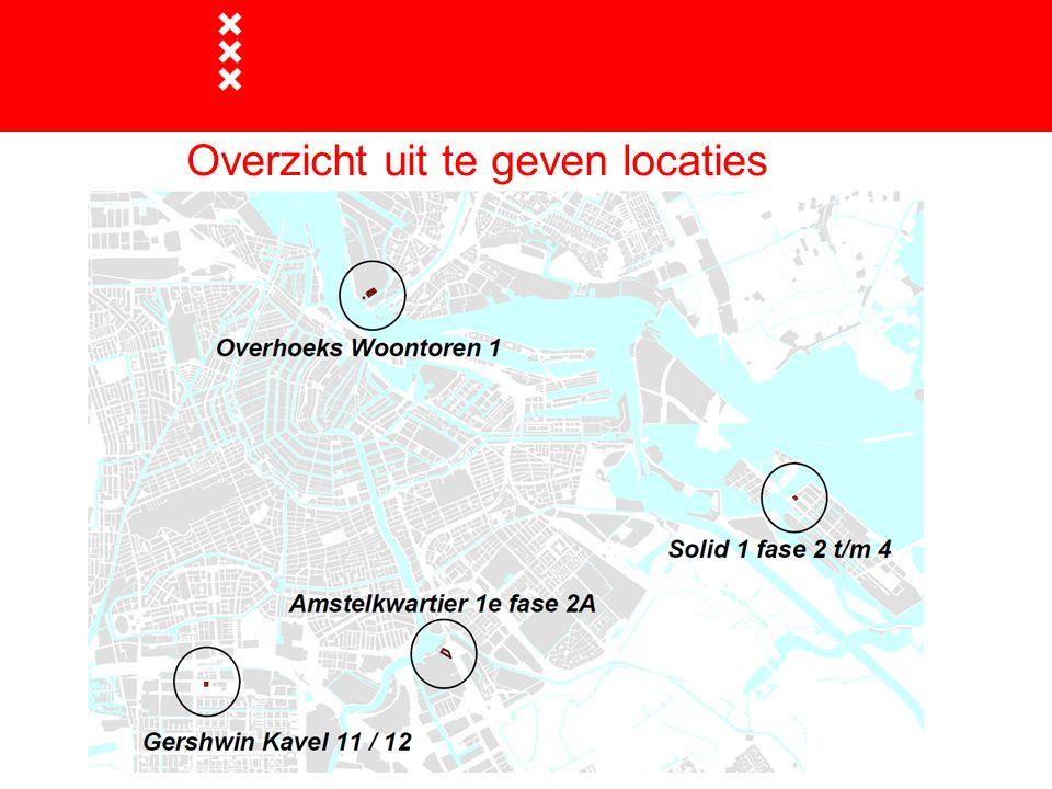 Overzicht uit te geven locaties  Overzichtskaart met locaties