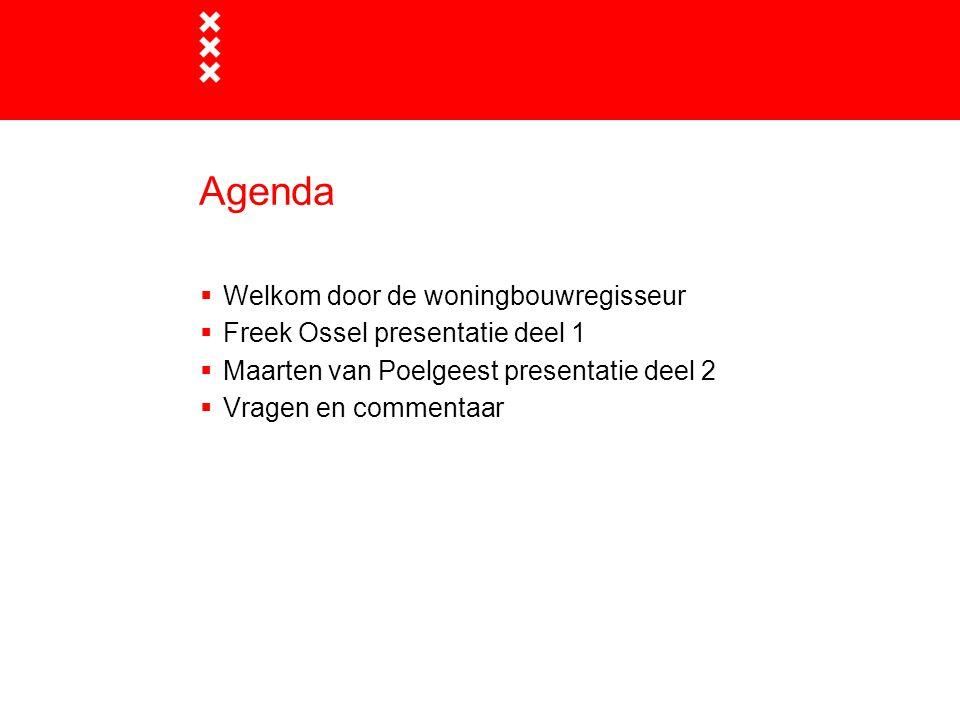Deel 1 Freek Ossel Wethouder Wonen Gemeente Amsterdam