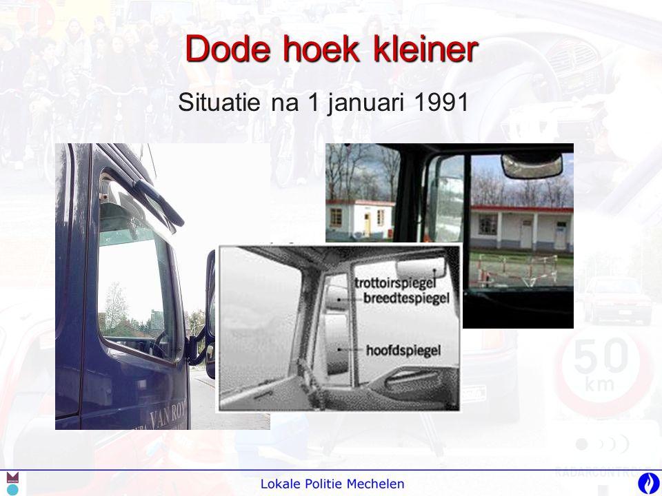 Dode hoek kleiner Situatie na 1 januari 1991