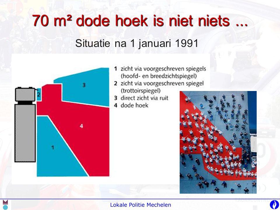 70 m² dode hoek is niet niets... Situatie na 1 januari 1991