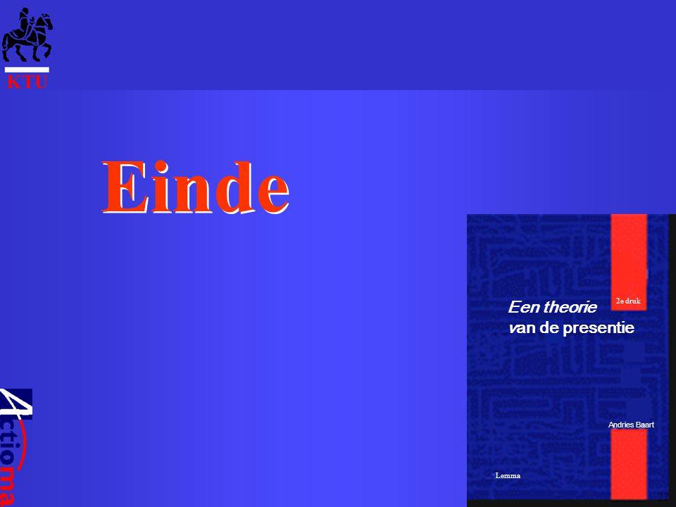 Een theorie van de presentie Andries Baart Lemma 2e druk Einde 22
