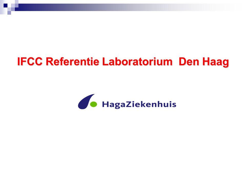 Primaire IFCC Standaard SKML Standaard E 2003.0114 IFCC Referentie Laboratorium HagaZiekenhuis Den Haag Combi Rondzending 2008 Pool A Combi Rondzending 2008 Pool B