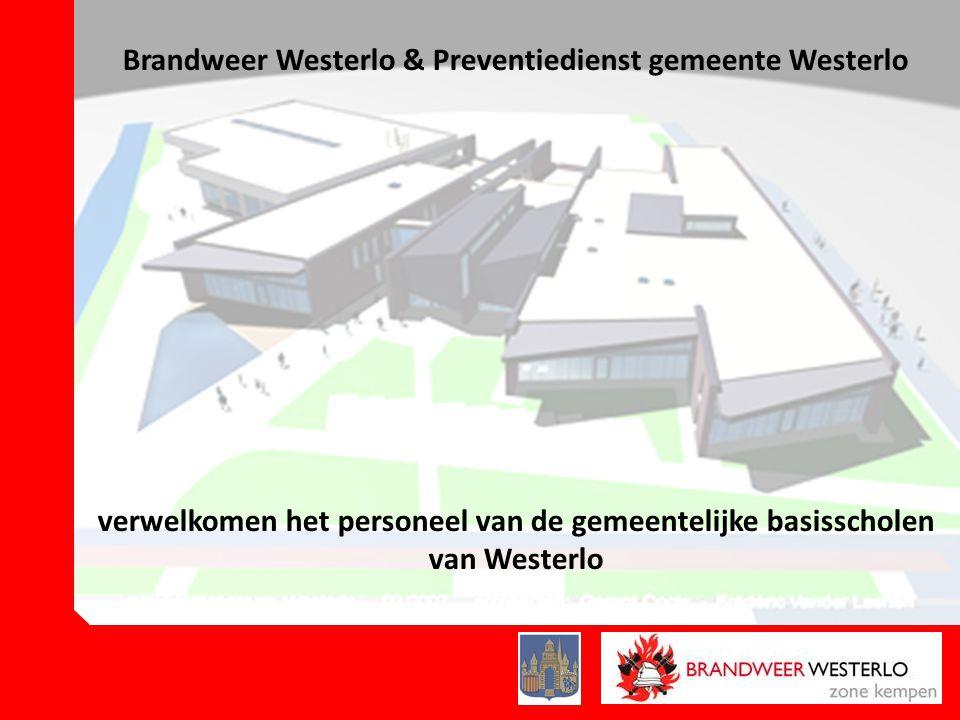 Brandweer Westerlo & Preventiedienst gemeente Westerlo verwelkomen het personeel van de gemeentelijke basisscholen van Westerlo