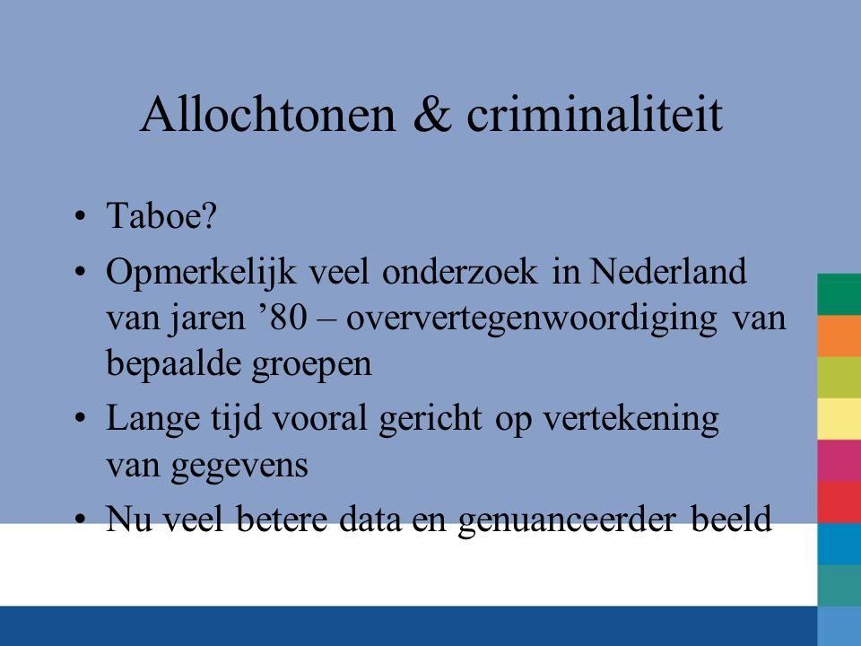 Allochtonen & criminaliteit •Taboe.