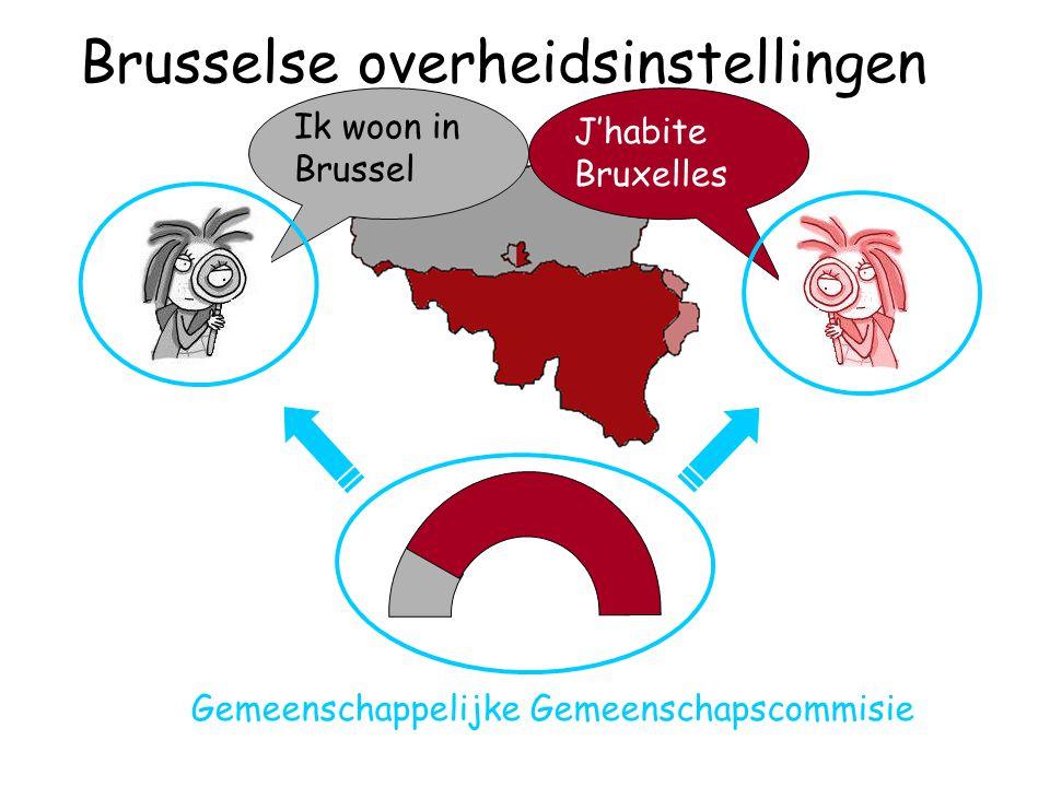 J'habite Bruxelles Ik woon in Brussel Gemeenschappelijke Gemeenschapscommisie Brusselse overheidsinstellingen