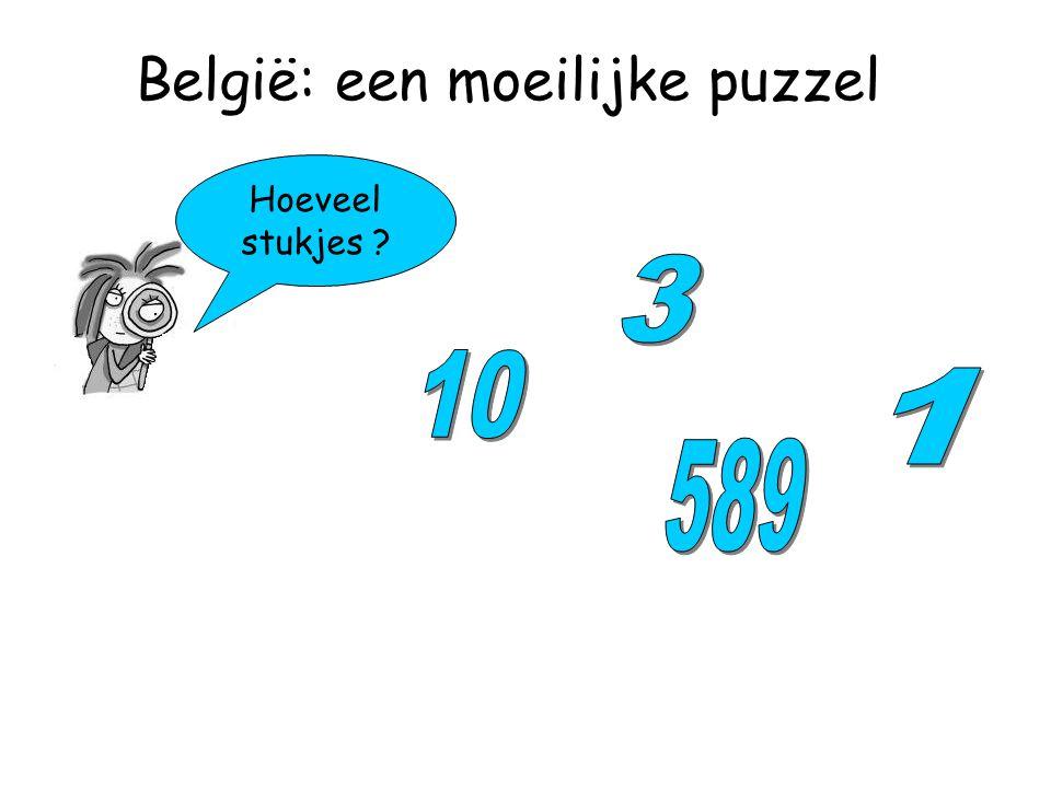 Hoeveel stukjes België: een moeilijke puzzel