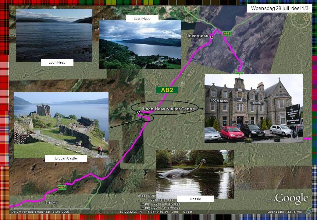 Woensdag 28 juli, deel 1/3 Urquart Castle Nessie Loch Ness